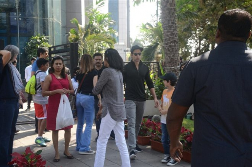 Hrithik Roshan Spotted With Family At BKC Photos