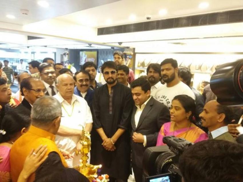 Kiccha Sudeep Inaugurating Bhima Jewelries Photos