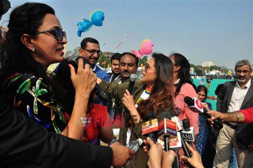 Rani Mukerji At Kite Flying Festival Ahmedabad Photos