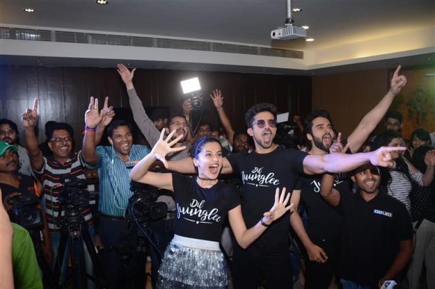 Saqib Saleem And Taapsee Pannu Dil Junglee Trailer Launch Photos