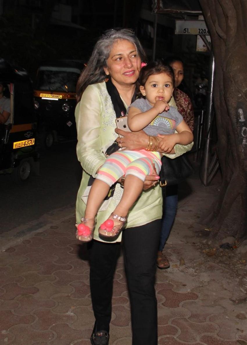 Shahid Kapoor And Mira's Daughter Misha With Granny Spotted At Bandra Photos