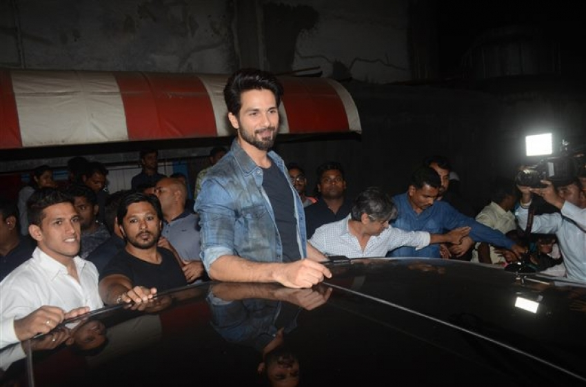 Shahid Kapoor Promote Padmaavat At Chandan Cinema Juhu Photos