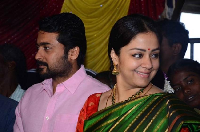 Suriya &  Jyothika At Their House-worker Wedding Photos