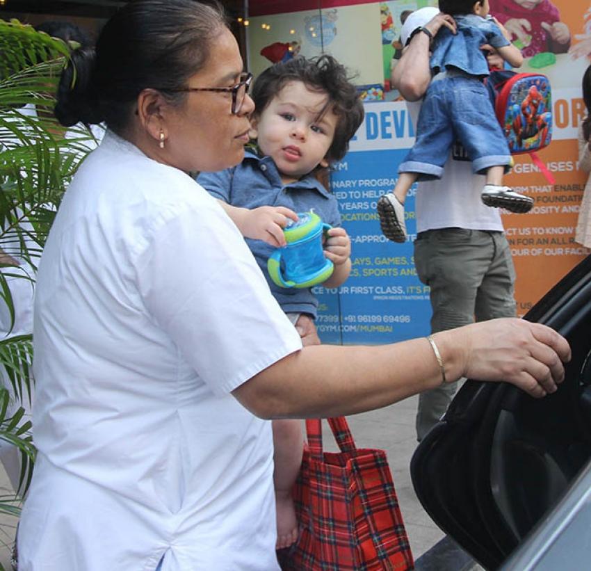 Taimur Ali Khan Spotted At Play School Bandra Photos