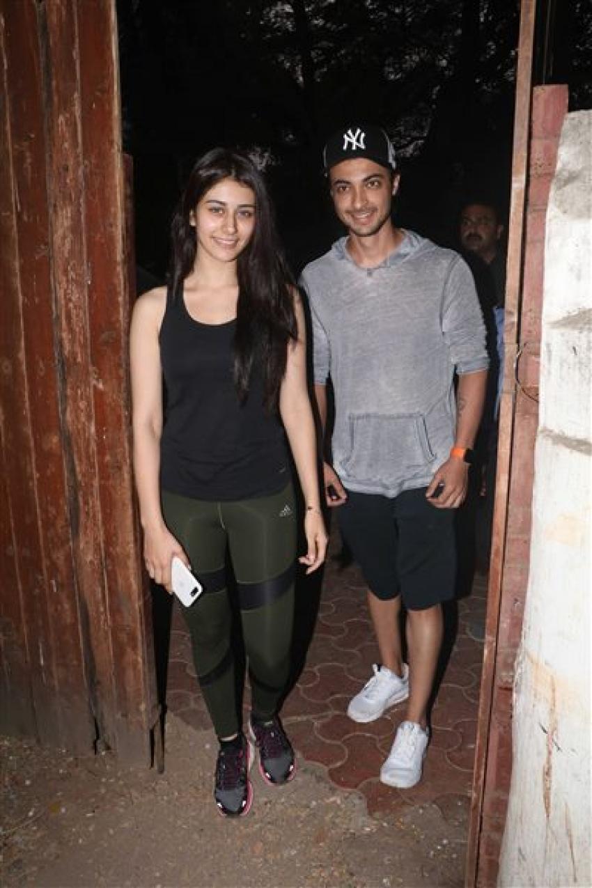 Aayush Sharma With Warina Hussain Co-Star Spotted At Dance Class Bandra Photos