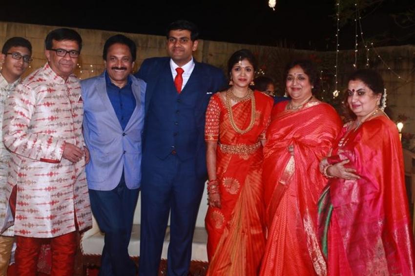 Actor YG Mahendra son Harshavardhan's Wedding Photos