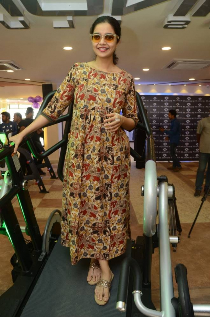 Actress Swathi Launches Platinum Fitness Club Photos