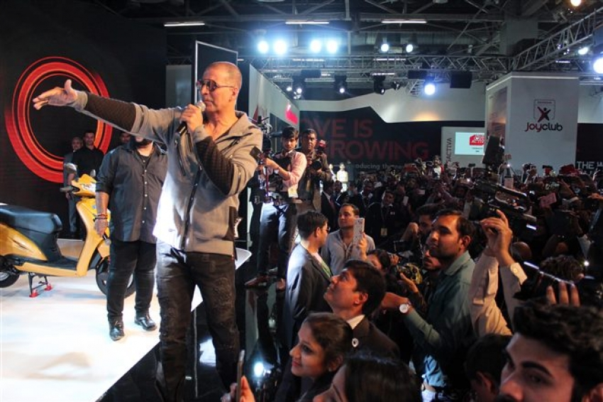 Akshay Kumar At Honda Event  At Auto Expo In Noida Photos