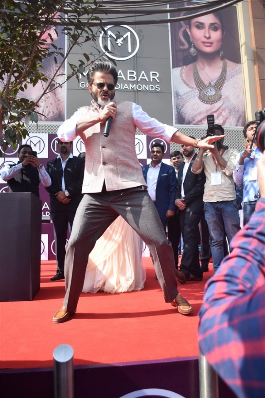 Anil Kapoor At Inaugration Of Malabar Jewellery Store In Noida Photos
