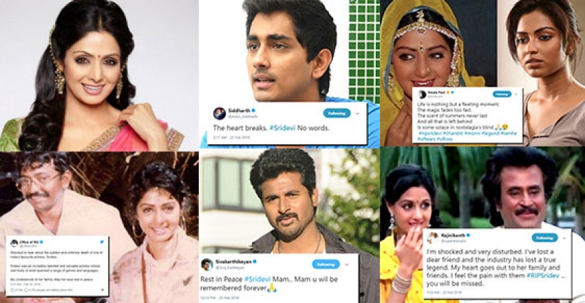 Celebs Pays Tribute to Legendary Actress Sridevi Kapoor Photos