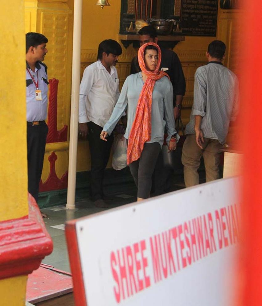 Ekta Kapoor Spotted At ISKCON Temple Juhu Photos