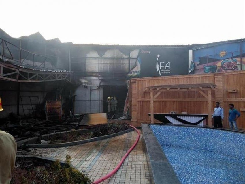 Fire Damages Kannada Bigg Boss House At Bidadi Photos