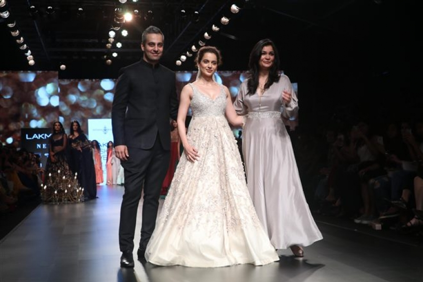 Kangana Ranaut Walks The Ramp At Lakme Fashion Week 2018 Photos