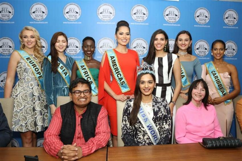 Miss World 2017 Manushi Chhillar At Miss World Organisation 2018 Photos