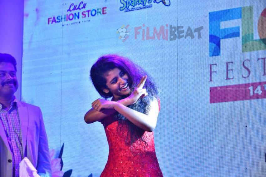 Oru Adaar Love:Priya Varrier At Kochi Lulu Mall Photos