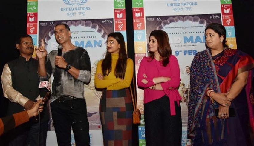 Padman Special Screening For Smriti Irani In New Delhi Photos