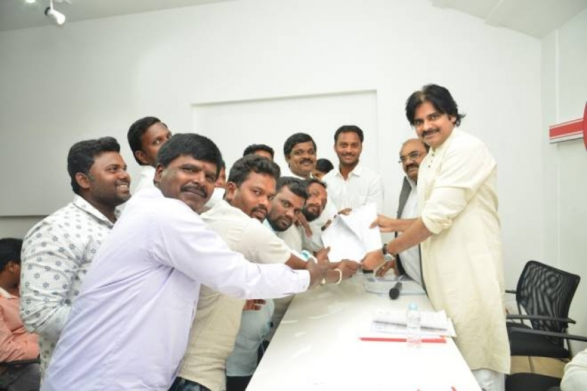 Pawan Kalyan Chief of Janasena Party Interacted With Fishermen Photos