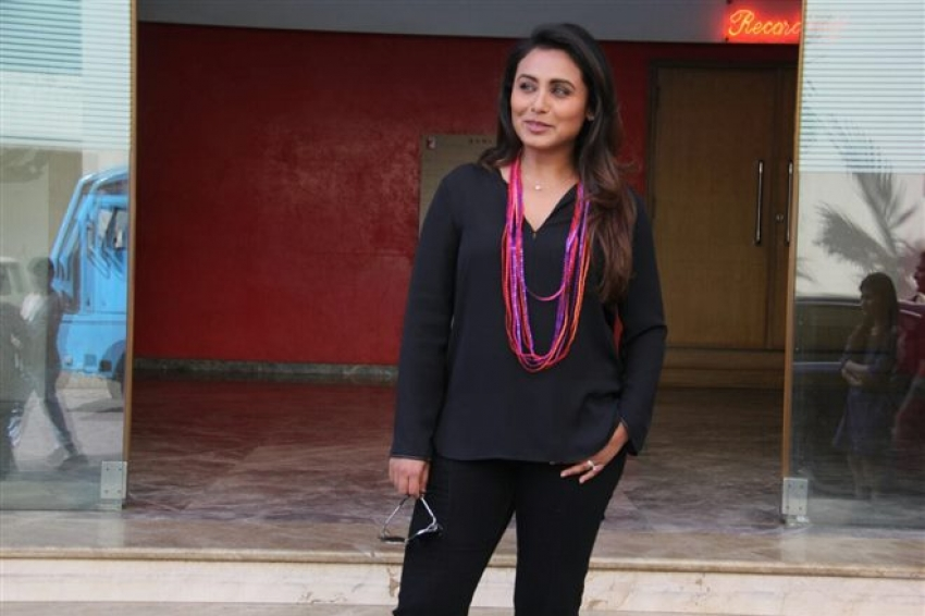 Rani Mukerji At Yashraj Studio Photos