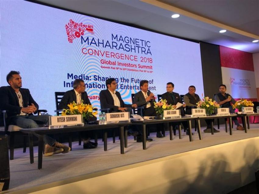 Shah Rukh Khan and Filmmaker Ritesh Sidhwani graced the Magnetic Maharashtra Convergence Summit Photos