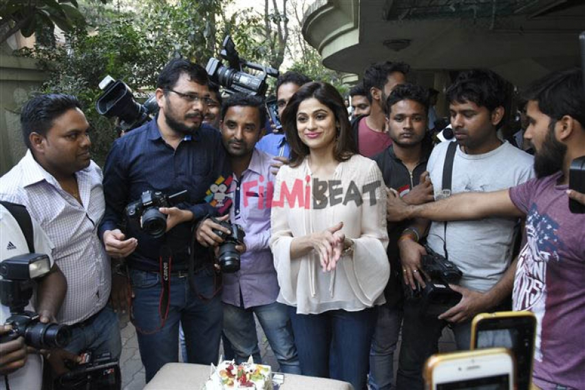 Shamita Shetty Birthday Celebration With Media Photos
