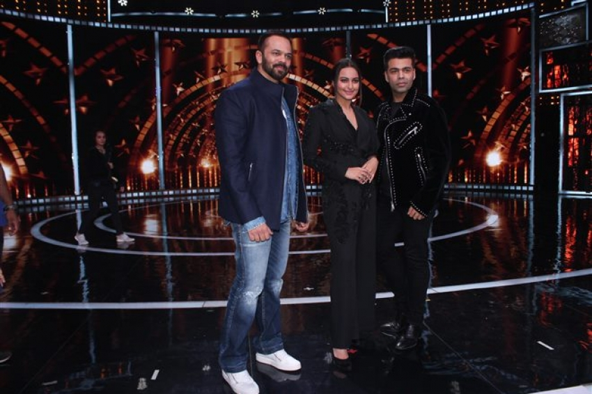 Sonakshi Sinha Promotes Welcome To New York On The Set Of India's Next Superstar Photos