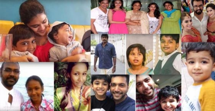 Tamil Actors With Their Children Photos