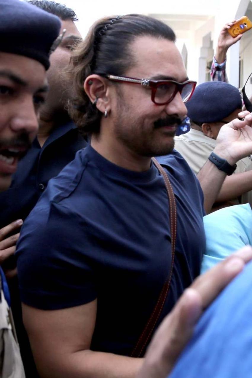 Aamir Khan Leaves From Jodhpur To Mumbai Photos