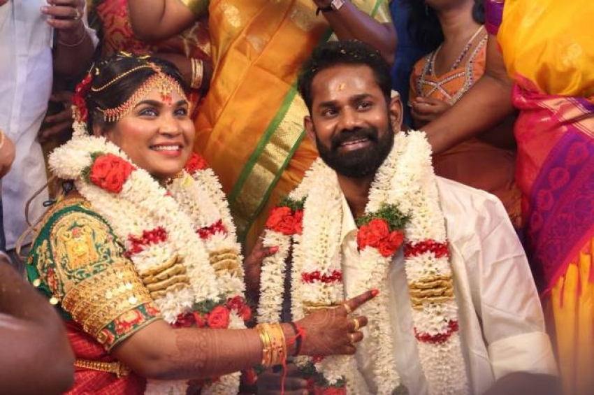 Actor Ramesh Tilak & Navalakshmi's Marriage Photos