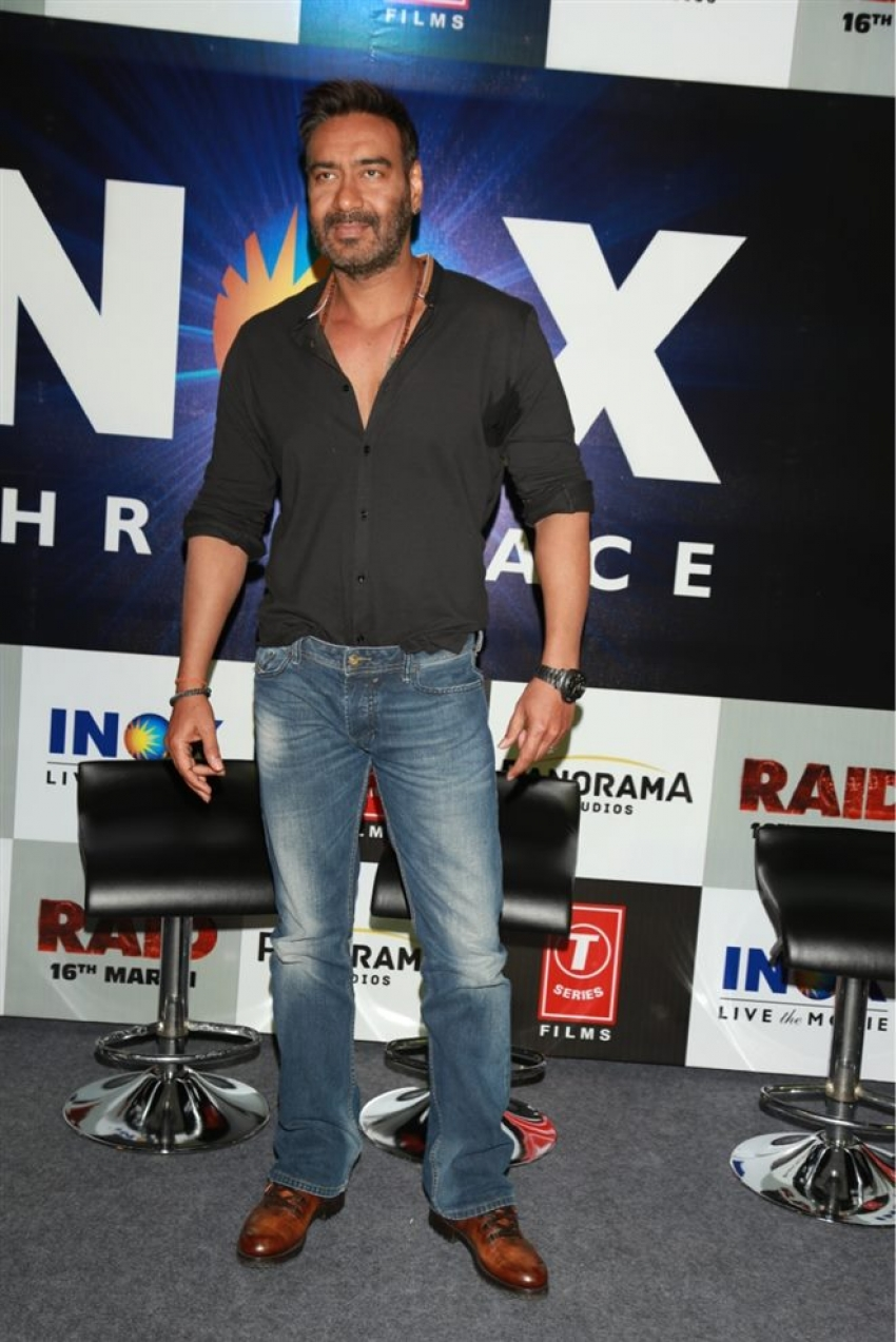 Ajay Devgan And Ileana D Cruz Promotes Raid In New Delhi Photos