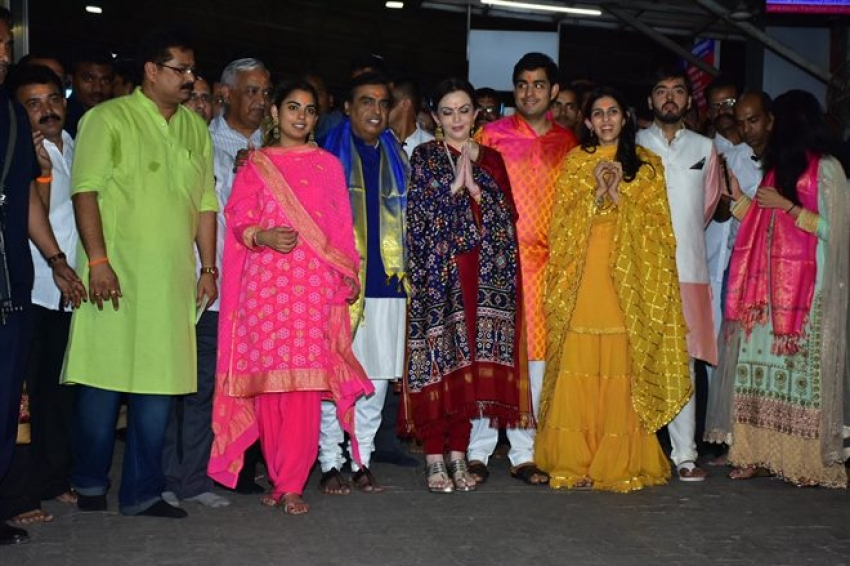Ambani Family At Siddhivinayak Temple Photos