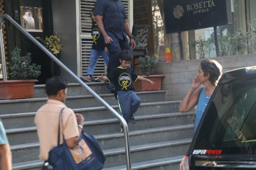 Amir khan's Son Azaan Spotted At Bandra Photos