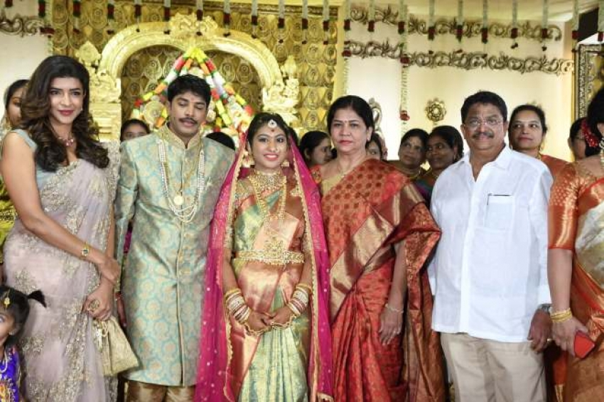 C kalyan Son Teja Naga Sree Wedding Reception Photos