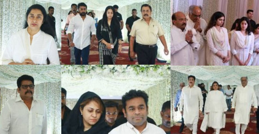 Celebs At Sridevi Kapoor Prayer Meeting Photos