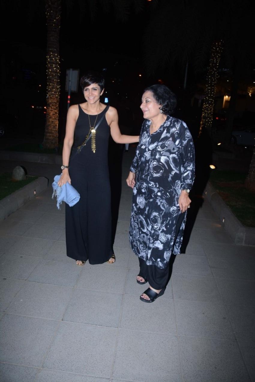 Mandira Bedi With Mom Spotted At Bandra Photos