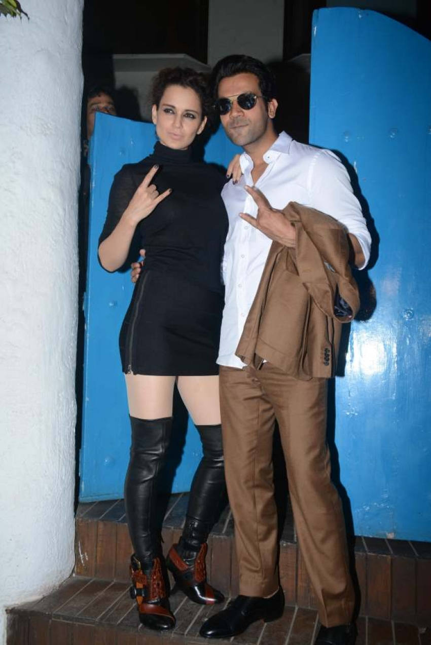 Mental Hai Kya Team Spotted At Olive Baar Kangana Ranaut Photos