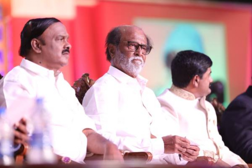 Rajinikanth Unveils MGR Statue Photos
