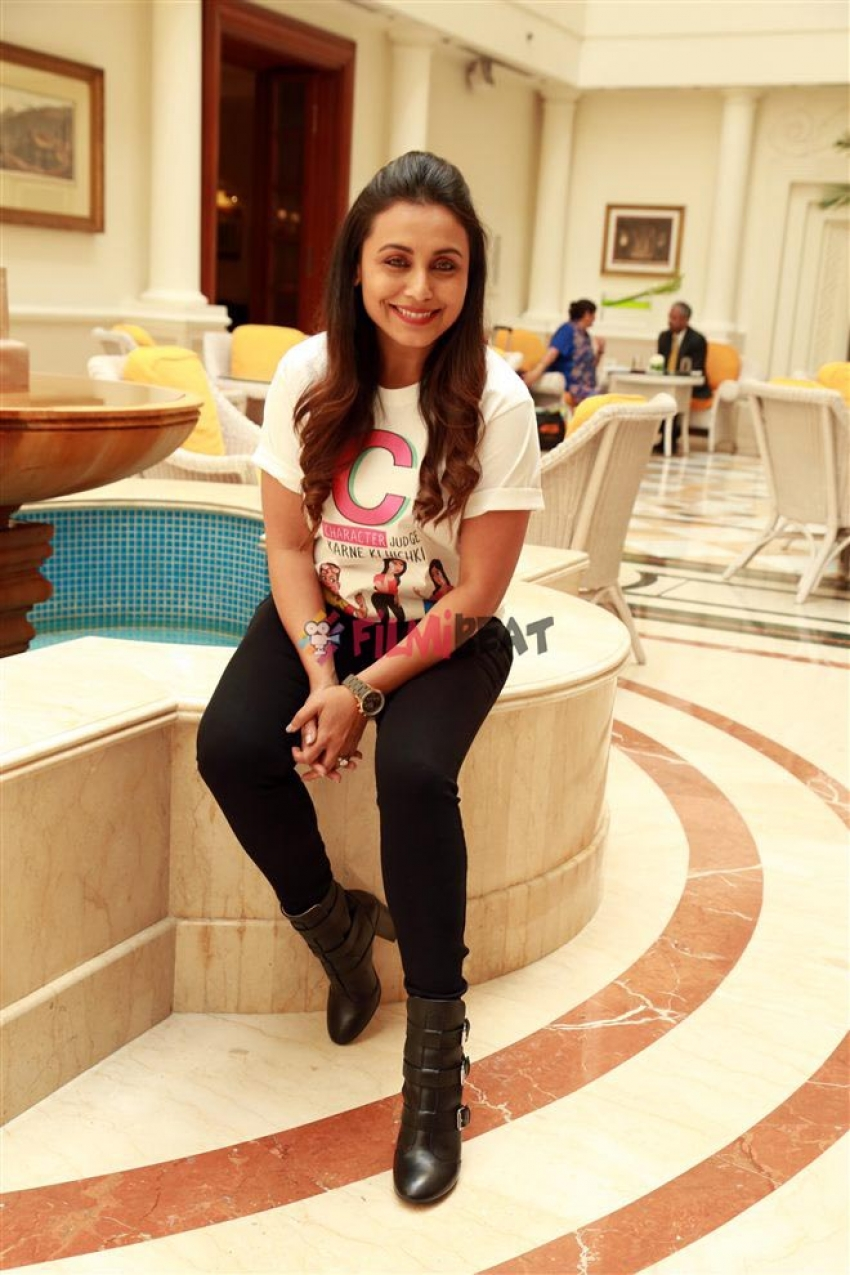 Rani Mukherjee Photoshoot For Upcoming Film Hichki In New Delhi Photos