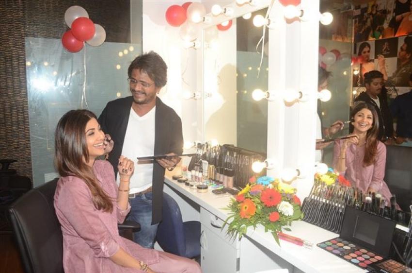Shilpa Shetty At Ajay Shelar Make Up Academy Photos