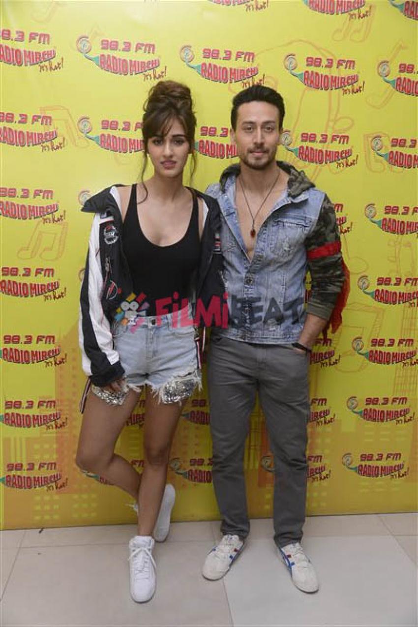 Tiger Shroff And Disha Patani Promoting Baaghi 2 At Radio Mirchi Photos