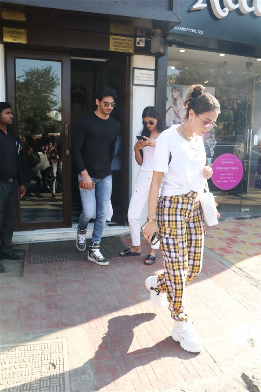 Tusshar Kapoor And Ahan Shetty Spotted At Bastian Bandra Photos