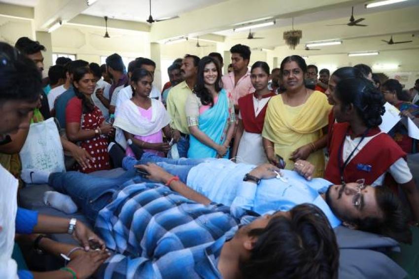 Varalaxmi Sarathkumar at Blood Donation Camp & International Womens Day Celebration Photos