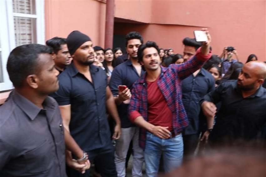 Varun Dhawan and Banita Sandhu Promoting Upcoming Movie October Photos
