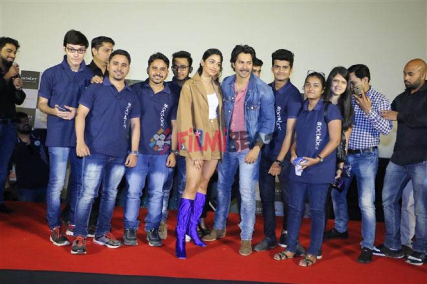 Varun Dhawan's October Movie Trailer Launch Photos