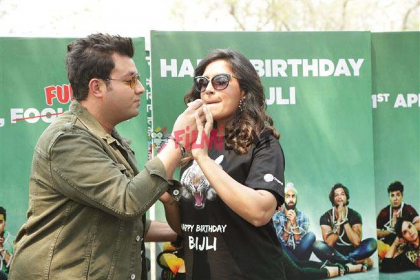 Varun Sharma And Richa Chadda Celebrated Birthday Of  Bijli Tiger At Delhi Zoo Photos