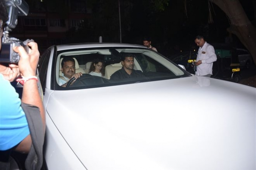 Virat Kohli And Anuskha Sharma & Other Celebs Spotted At Sridevi House Photos