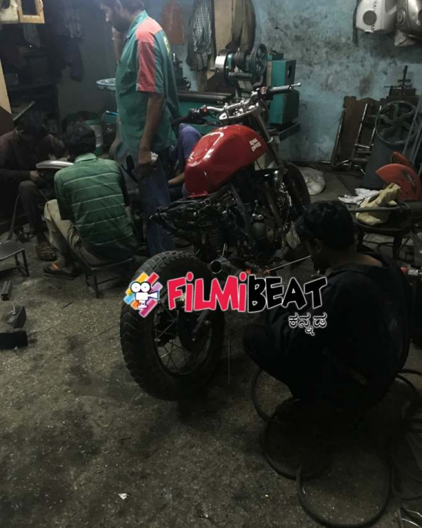 Yash Bike In KGF Movie Photos