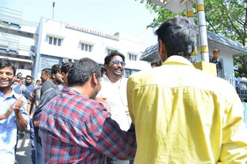 Pawan Kalyan At Film Chamber Photos