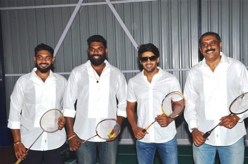 Arya Opens Badminton Academy Photos