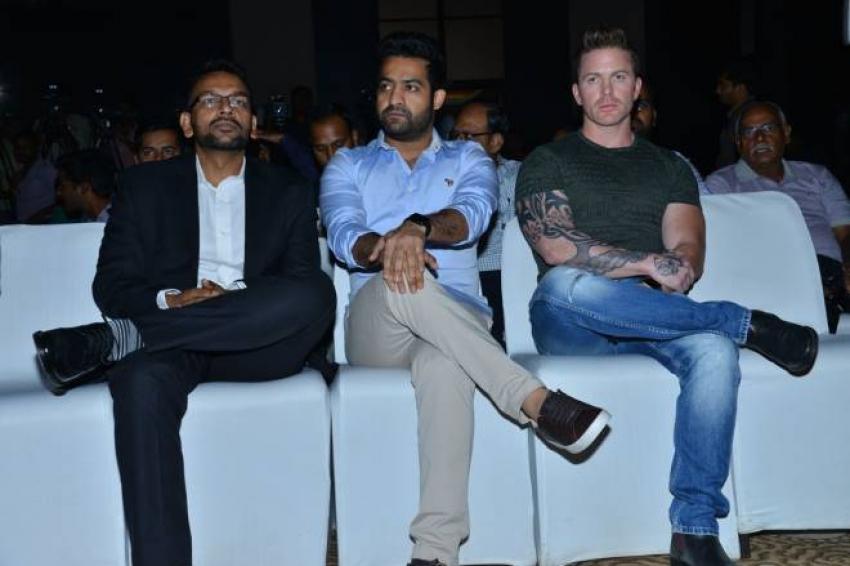 Jr NTR At VIVO IPL Press Meet Photos