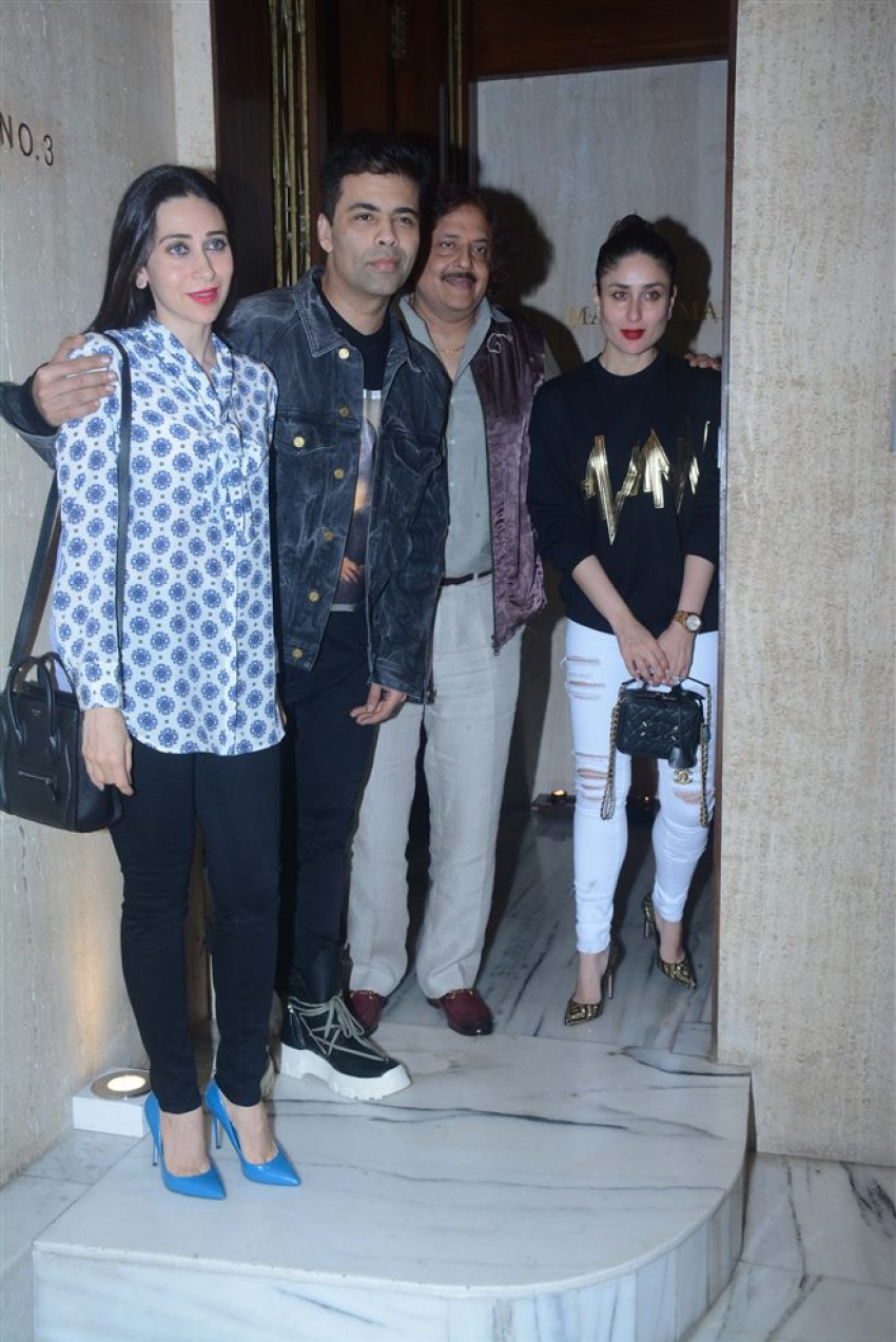 Kareeena, Karisma & Karan Johar Spotted At Manish Malhotra House Photos